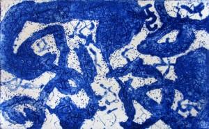 gravure N° 673 2013 eau-forte et pointe sèche H 178. L 178 cm 5 exemplaires + 1 e a et 12 exemplaires dans le livre Petits dragon avec Daniel Dezeuze