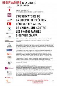 Communiqué Observatoire - Ciappa 10 12 2015