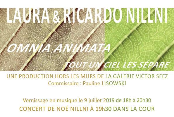 Omnia Animata, tout un ciel les sépare, exposition de Laura et Ricardo Nillni