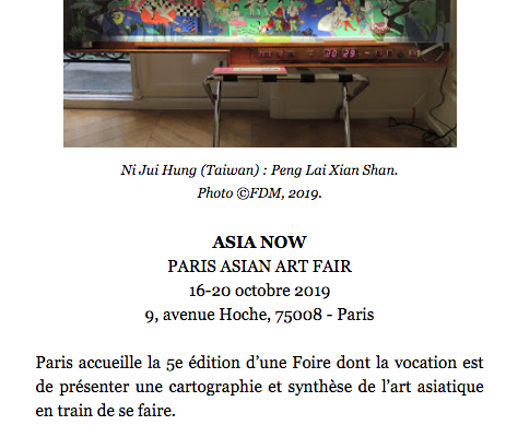 ASIA NOW – ART FAIR 2019