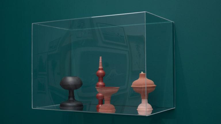 'MECARÕ. Amazonia in the Petitgas Collection', MO.CO. Montpellier Contemporain (exhibition view), works by Alexandre da Cunha