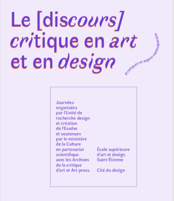Le discours critique en art et en design