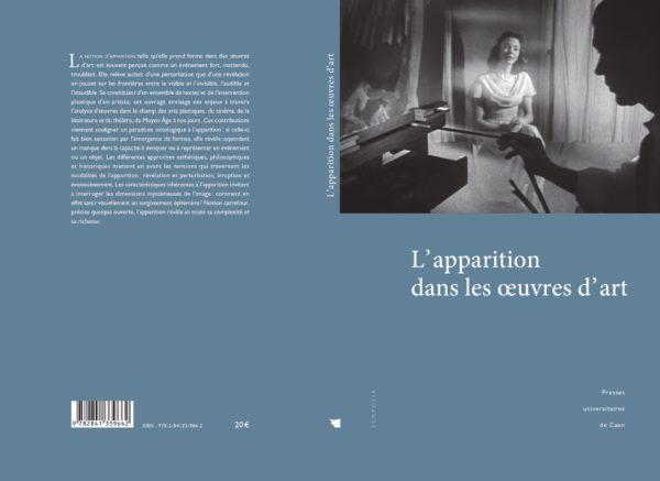 Parution de l'ouvrage «L'Apparition dans les œuvres d'art» (dir. Pascal Couté, Hélène Frazik, Camille Prunet)