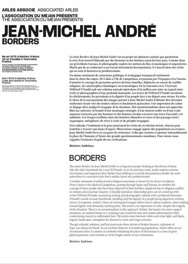 Jean-Michel André «Borders» par Béatrice Andrieux