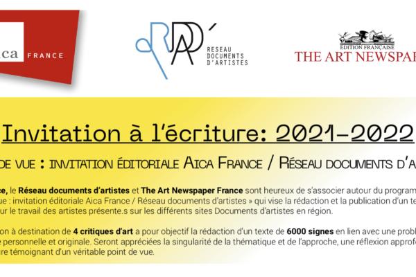 APPEL À CANDIDATURE / Invitation à l'écriture : 2021-2022